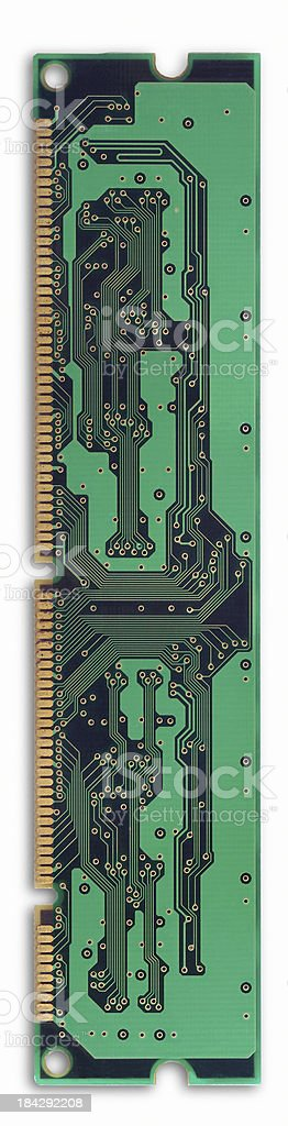 Green old Computer Electronic Circuit Board royalty-free stock photo