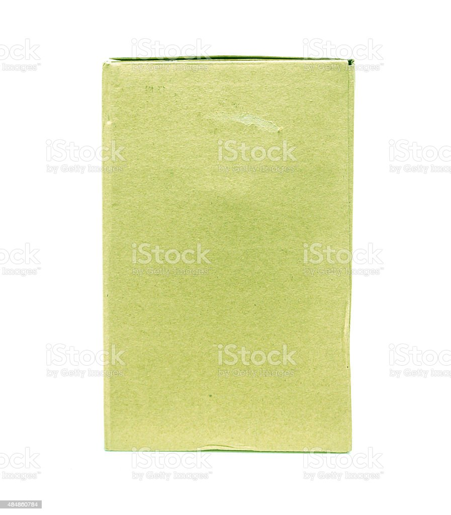 Green Old packaging cardboard royalty-free stock photo