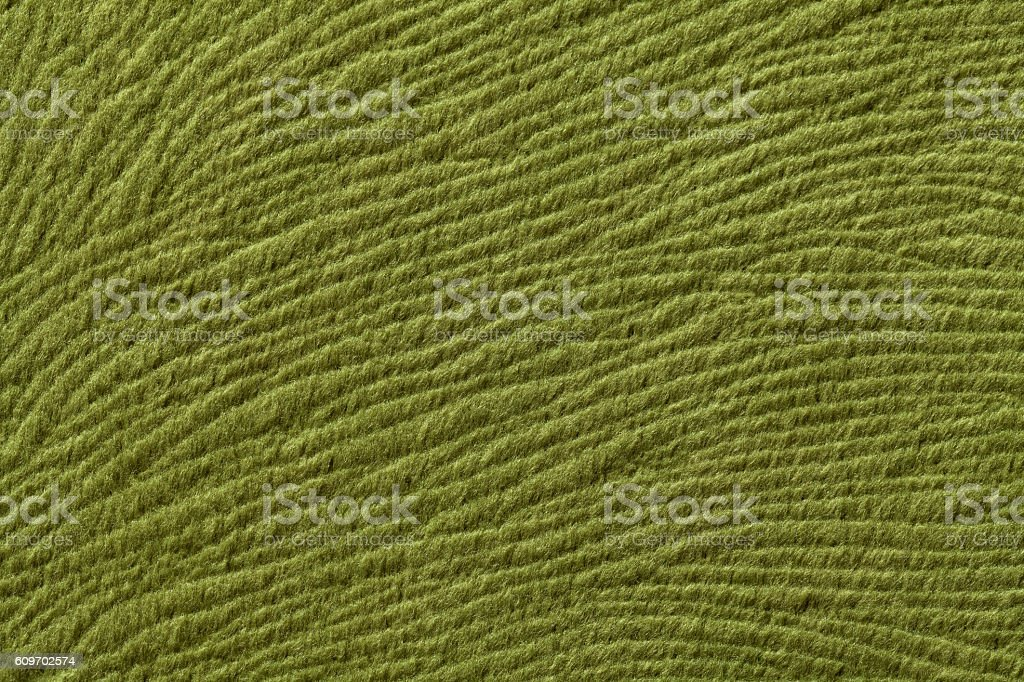 Green olive background from soft textile material. stock photo