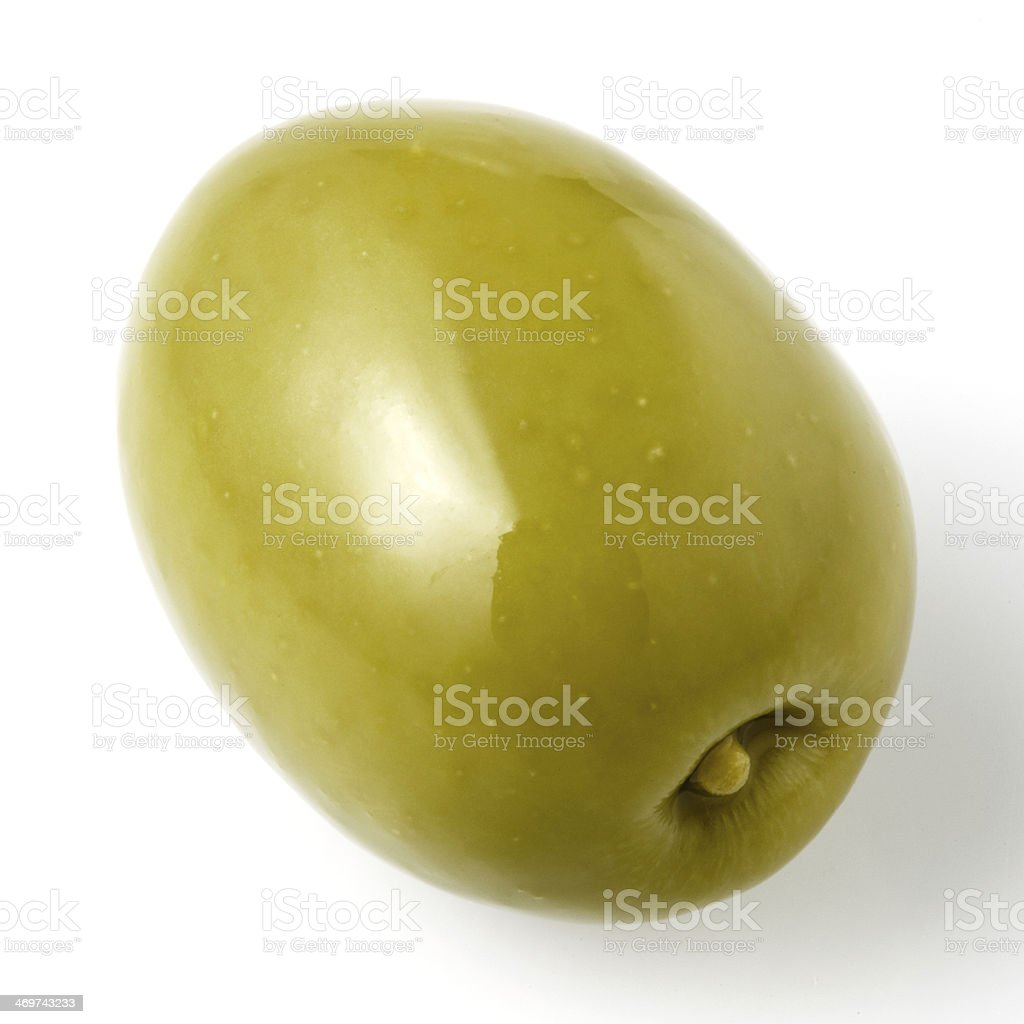 green olive isolated on white royalty-free stock photo