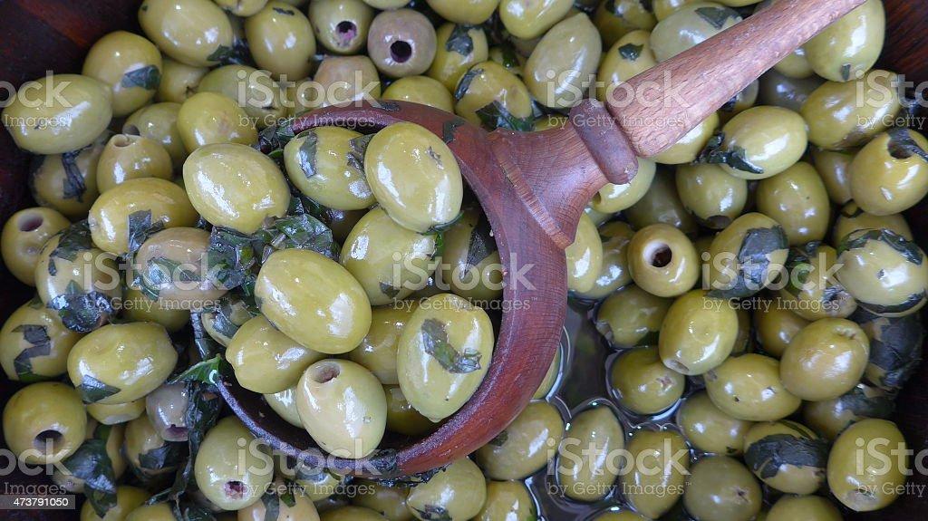 Aceitunas-Bild-verde foto de stock libre de derechos