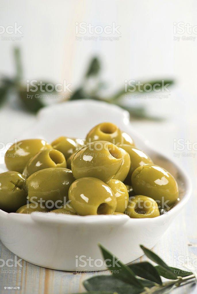 Зеленый Olives Стоковые фото Стоковая фотография