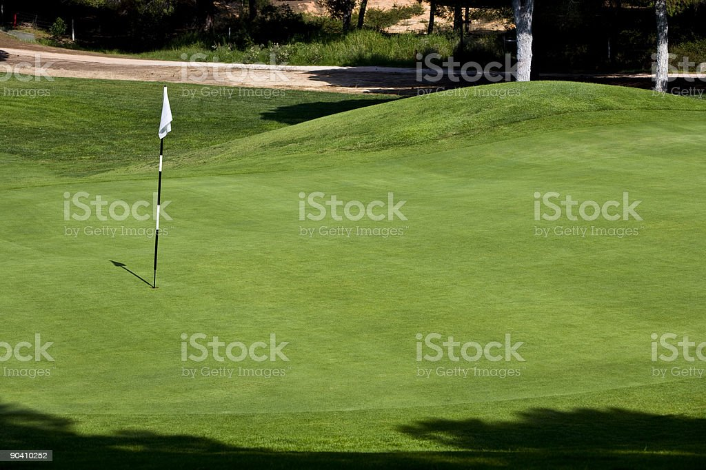 Green on a Portuguese golf course royalty-free stock photo