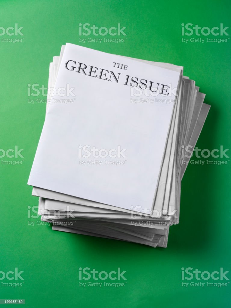 Green on the Paper royalty-free stock photo