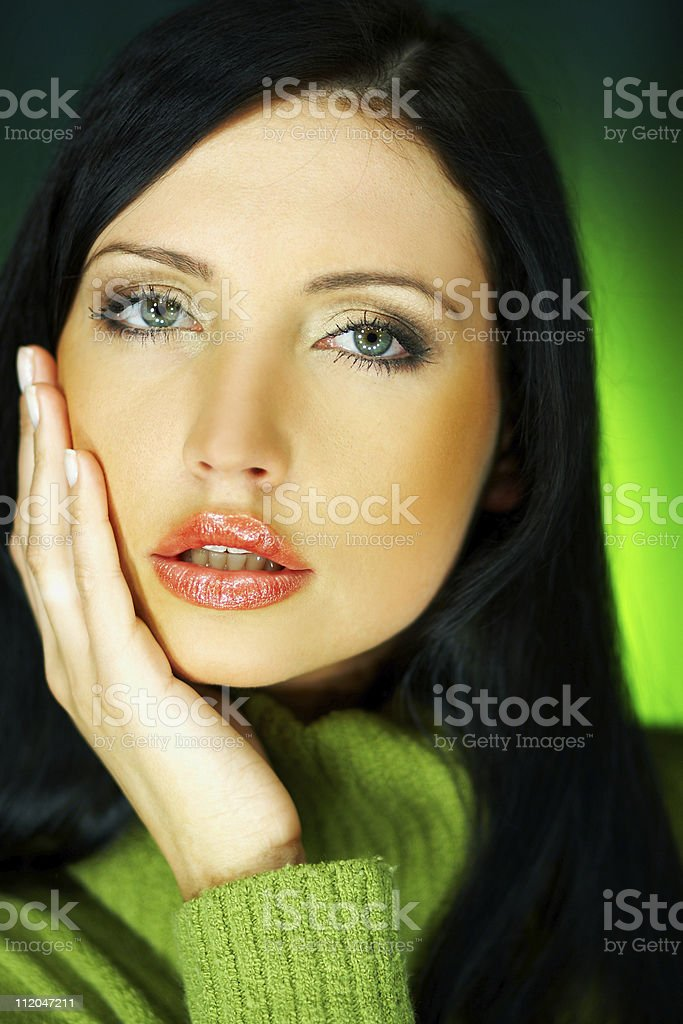 Green one royalty-free stock photo