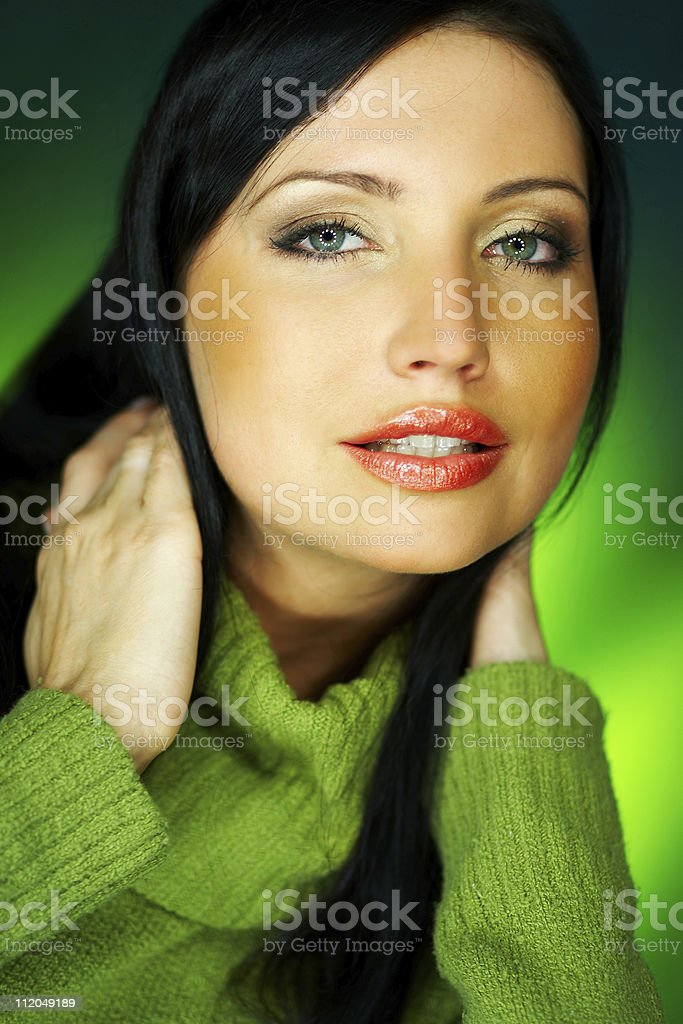 Green one stock photo