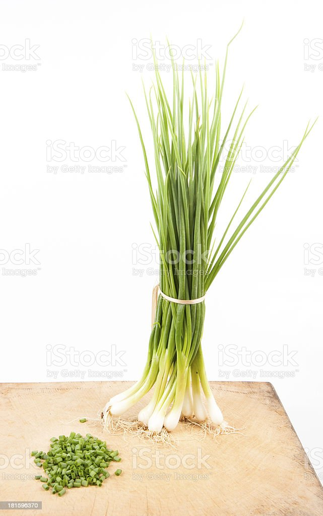 Green Onion - Natural food for health stock photo