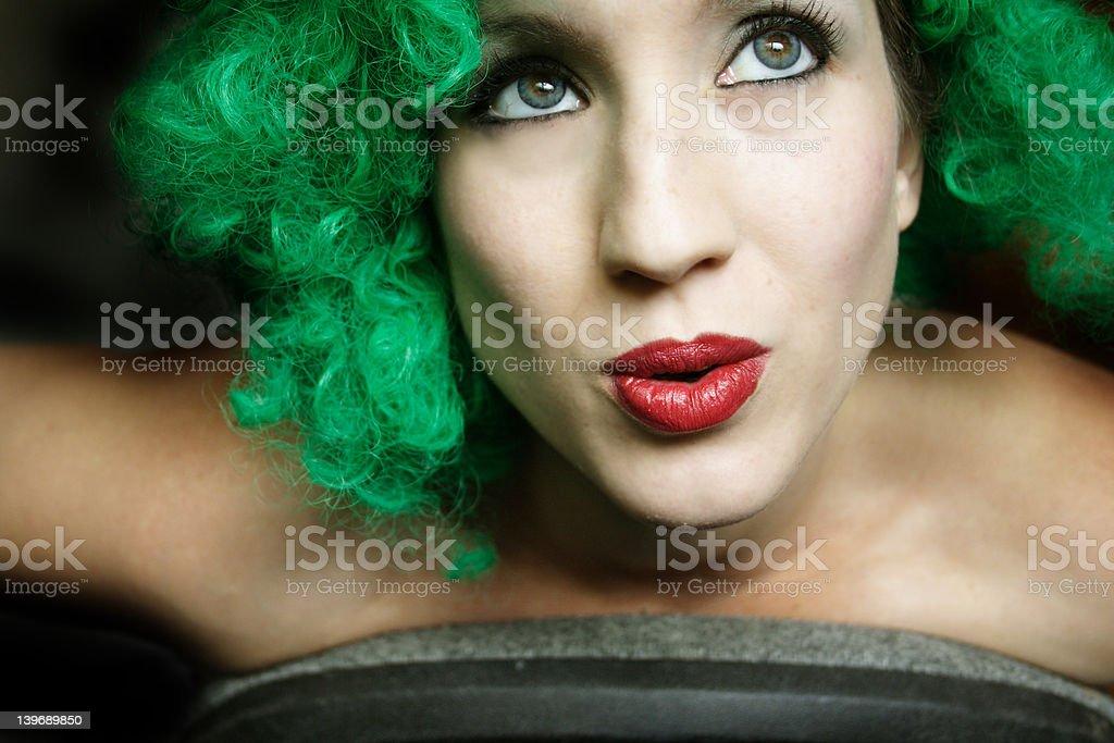Green Ooooh stock photo