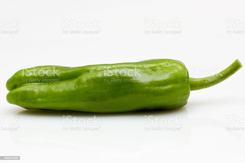 Green Organic Pepper royalty-free stock photo