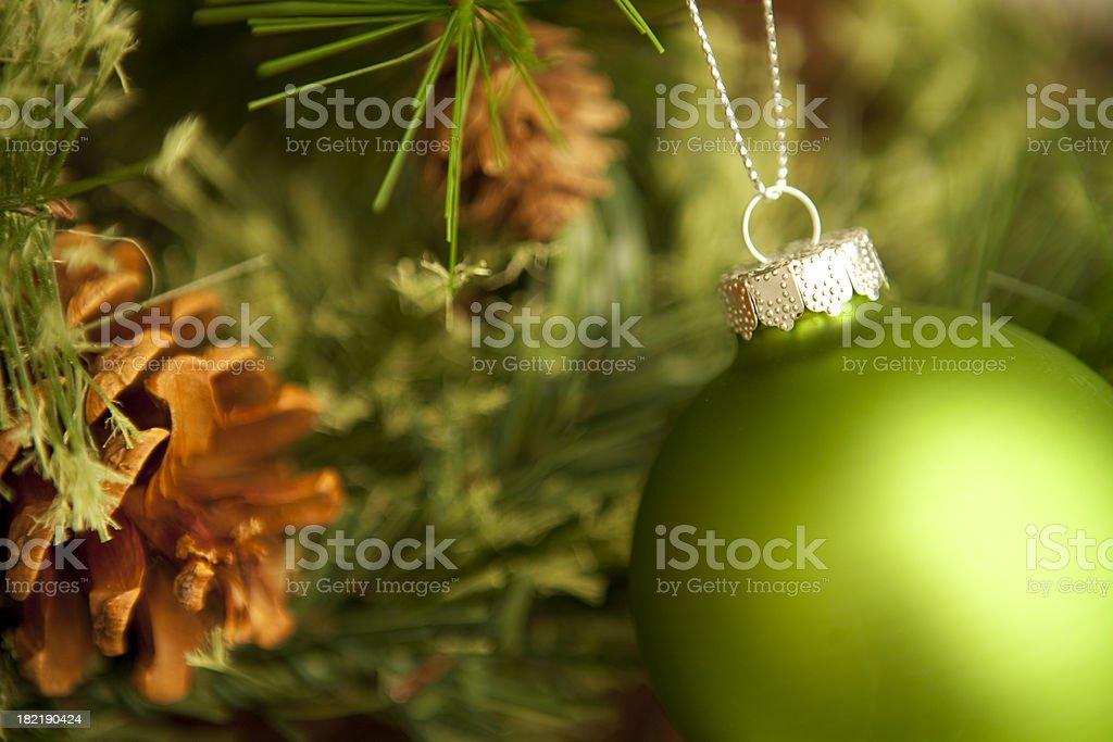 Green Ornament. royalty-free stock photo