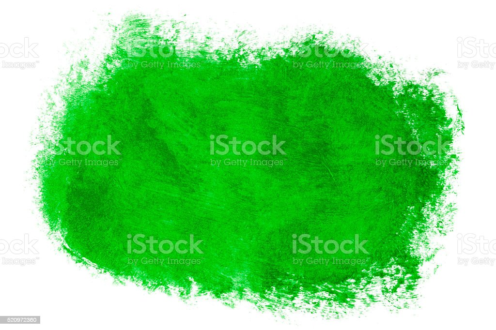 Green paint (isolated on white) stock photo