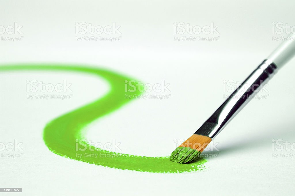 Green paint royalty-free stock photo
