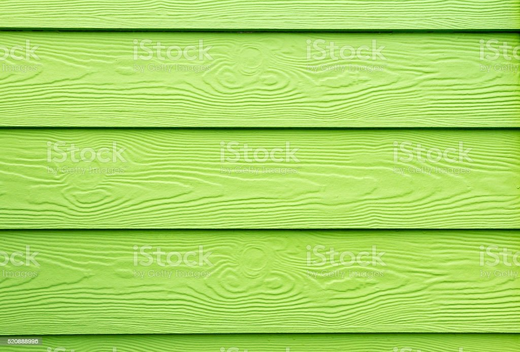Green painted wood structure stock photo