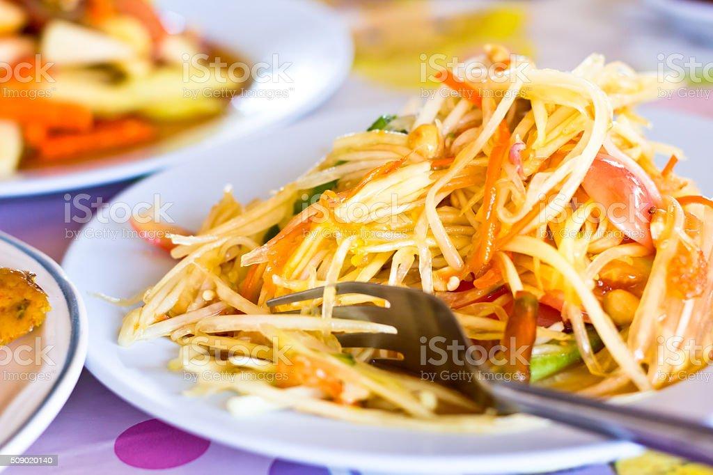 Green Papaya Salad stock photo