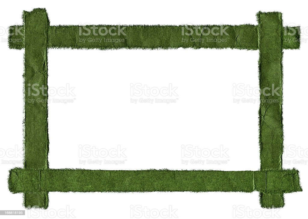Green paper frame isolated (XXXL) stock photo