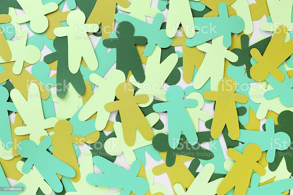 Green paper people royalty-free stock photo