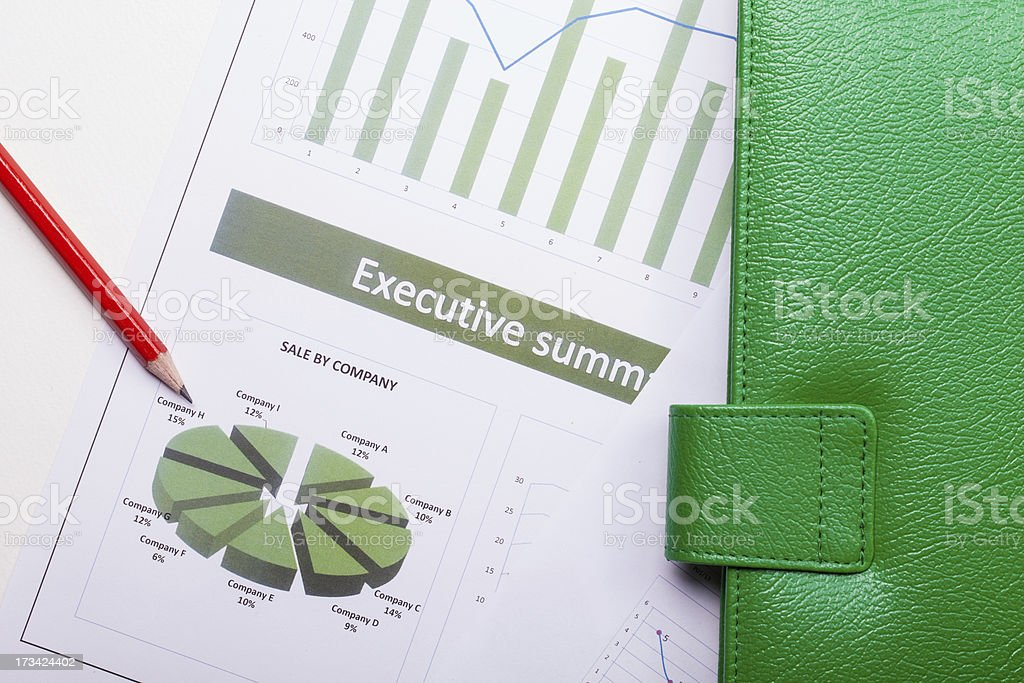 Green paperwork royalty-free stock photo