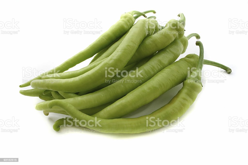 green paprikas stock photo