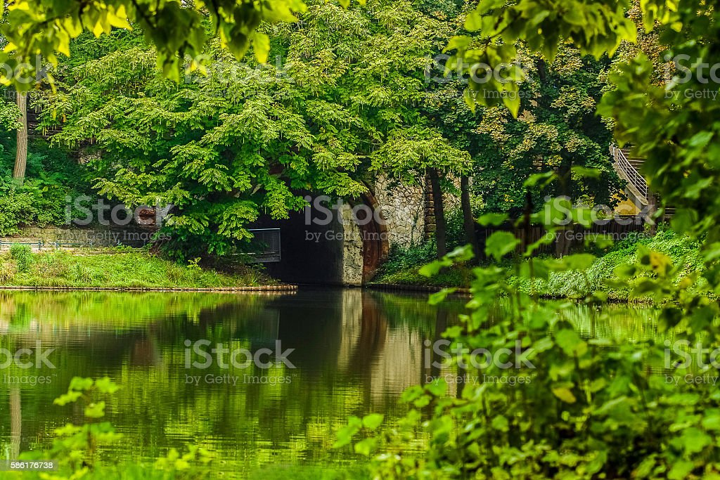 Green park in Germany stock photo