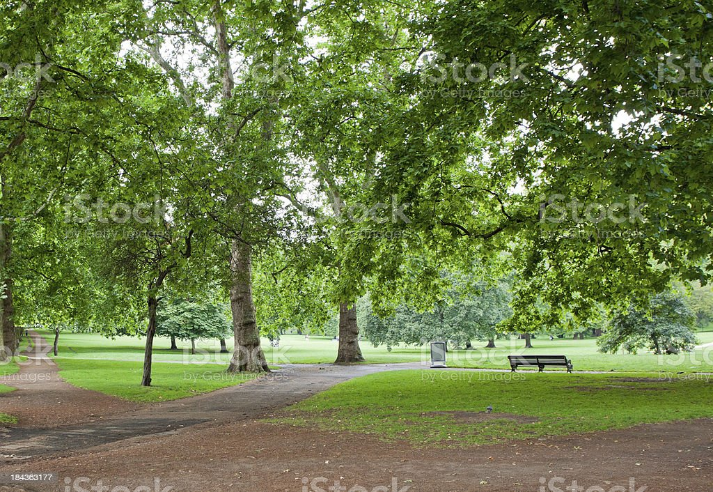Green Park in Summer, London stock photo