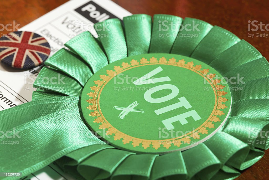 Green Party Vote royalty-free stock photo