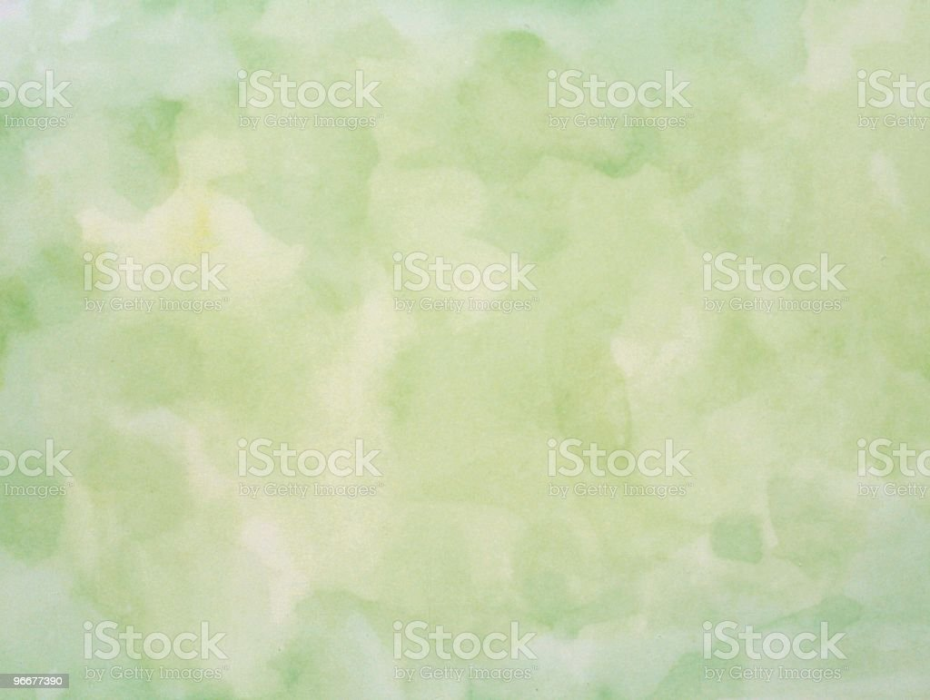 Green pastel watercolor background royalty-free stock photo