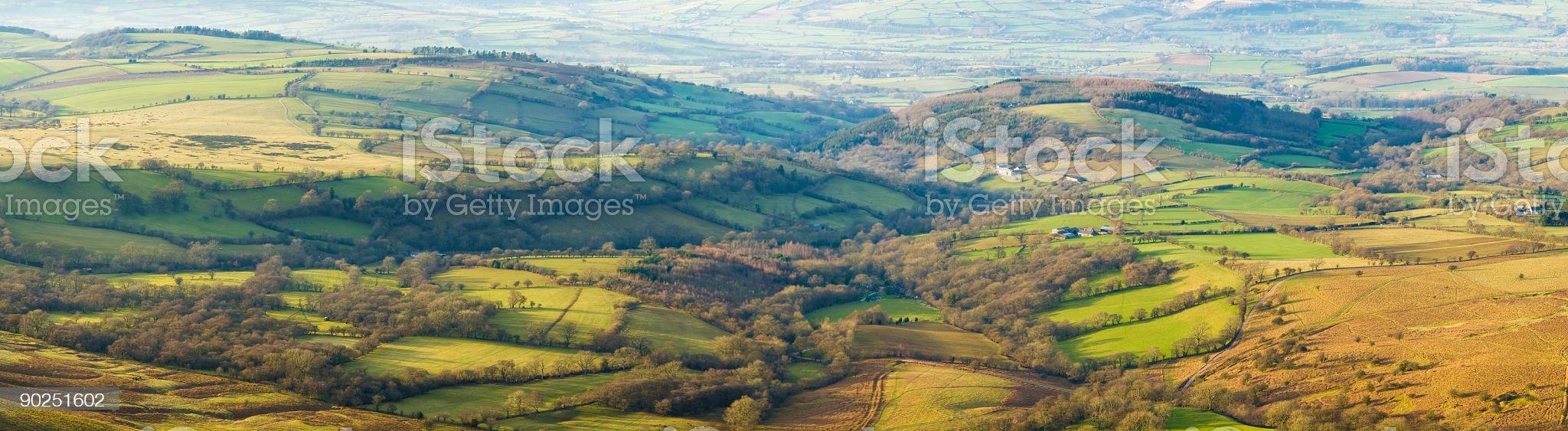 Green pastoral landscape royalty-free stock photo