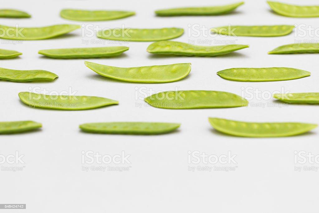 green pea Mange Tout background stock photo