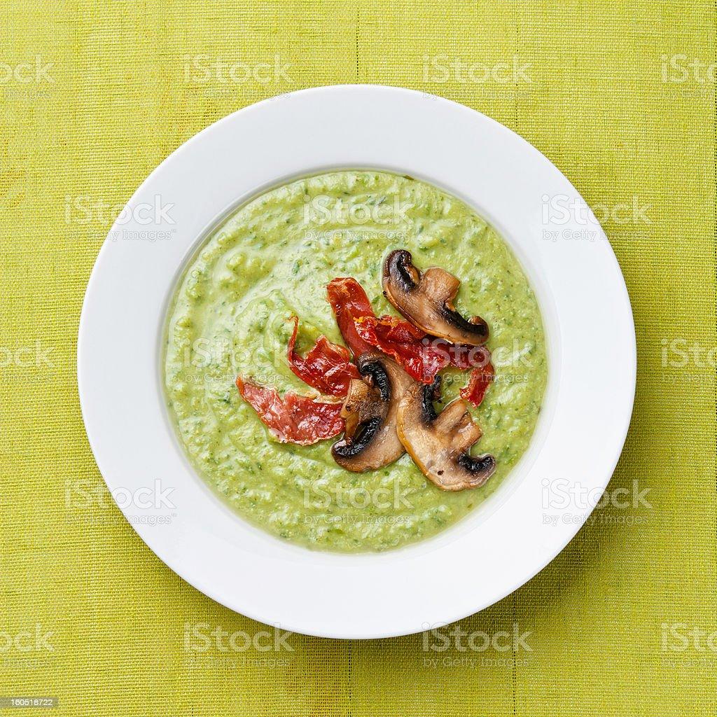 Green pea soup royalty-free stock photo