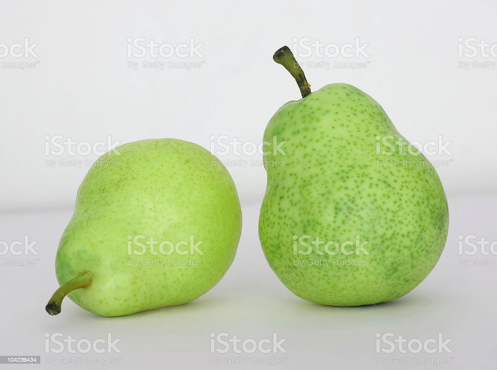 Green Pear Conversation royalty-free stock photo