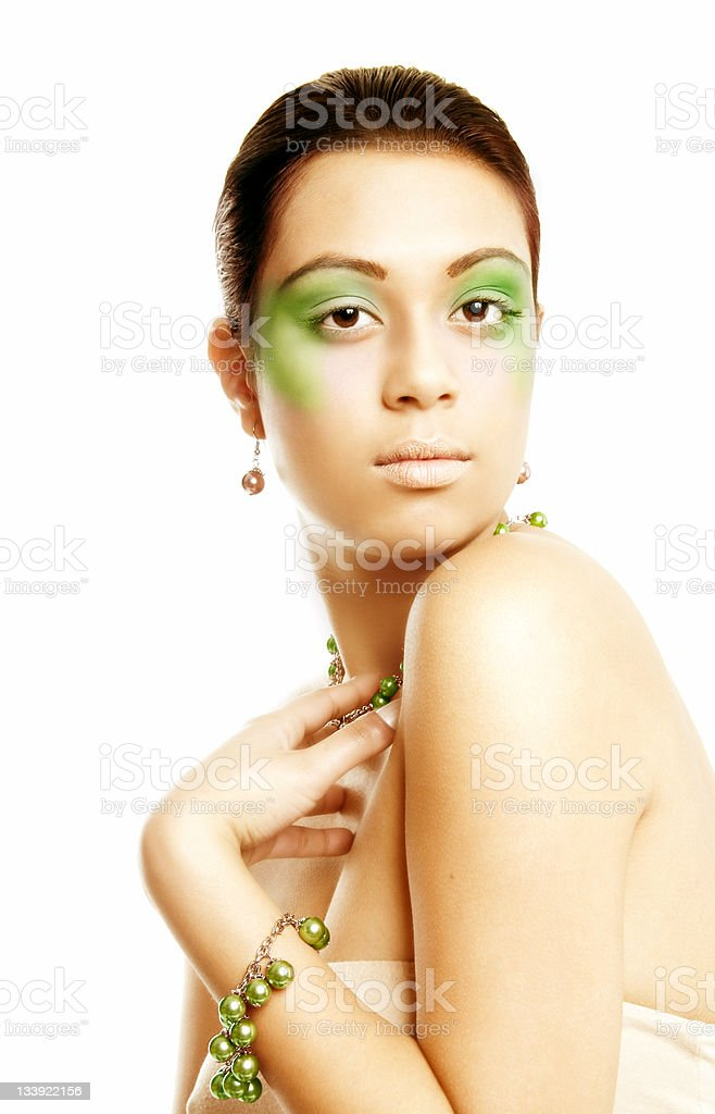 Green Pearls royalty-free stock photo