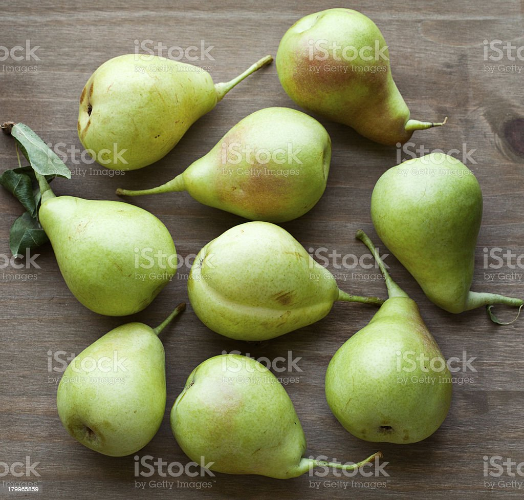 Green pears royalty-free stock photo