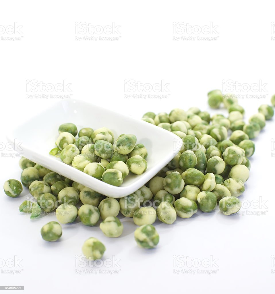 green peas isolated on white royalty-free stock photo