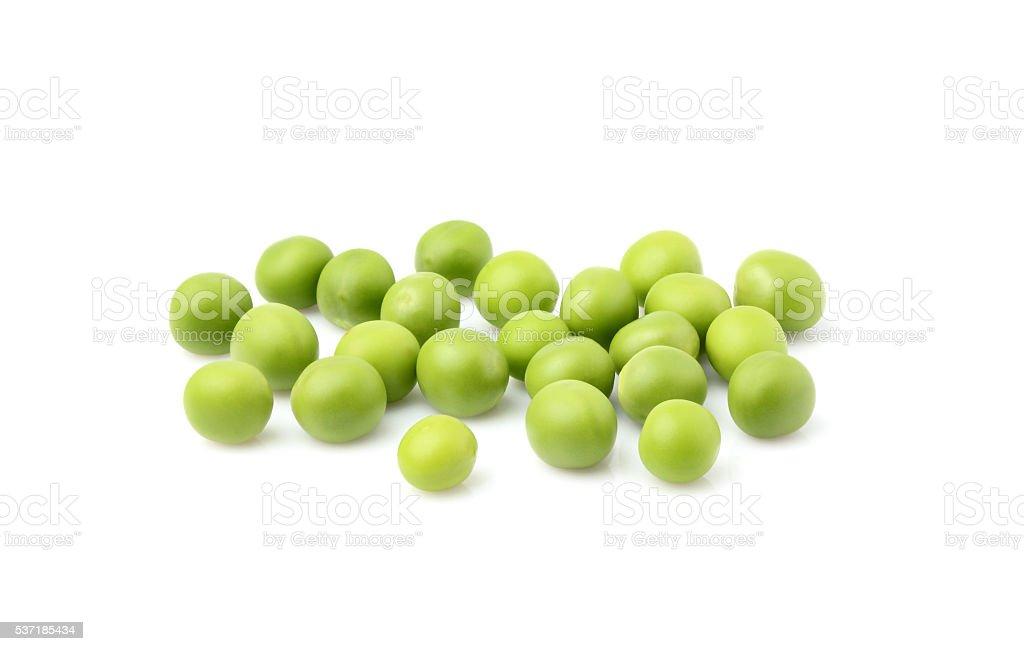 Green peas isolated. stock photo