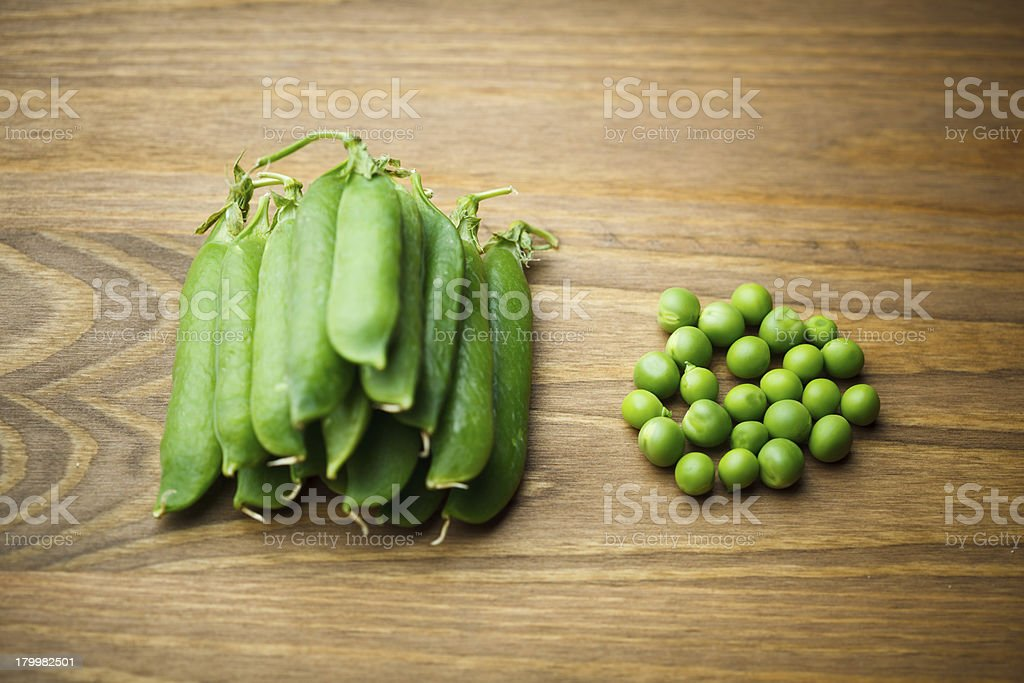 green peas pile and seeds royalty-free stock photo