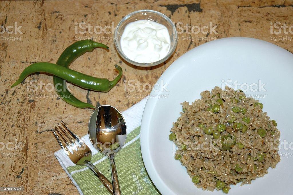 Green Peas Pulao royalty-free stock photo