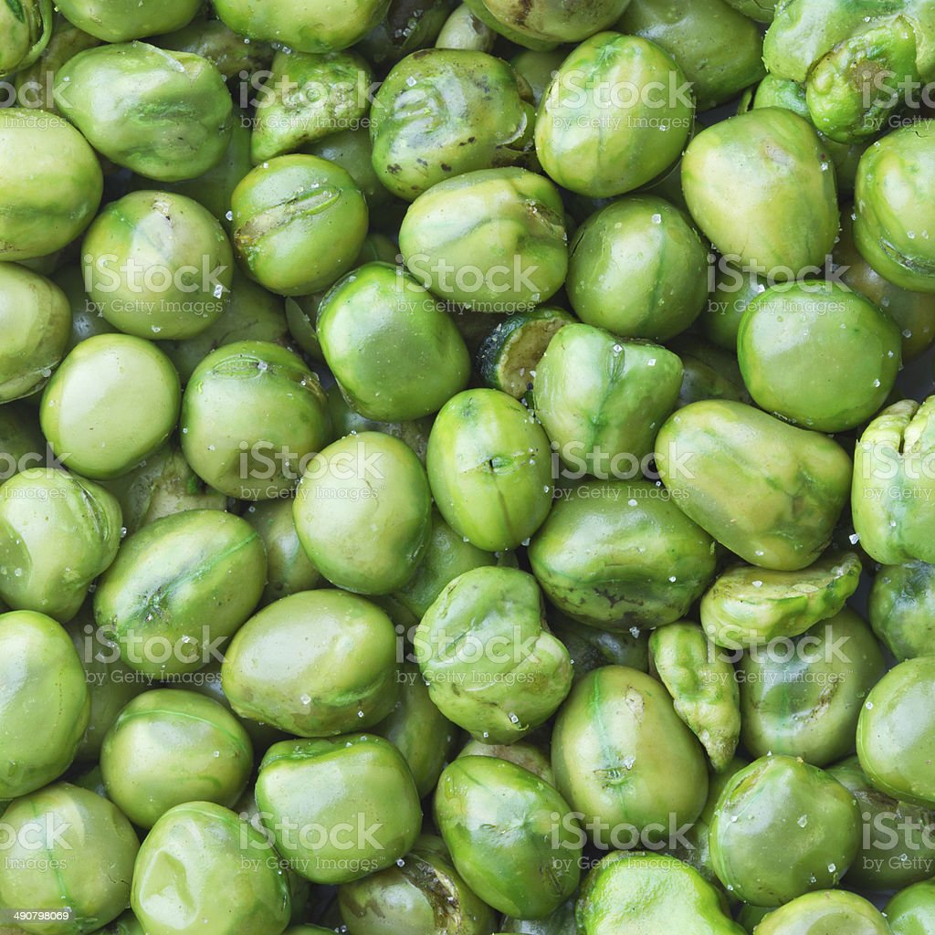 green peas, salted and deep fried stock photo