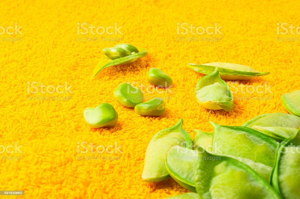 green peas with pods stock photo