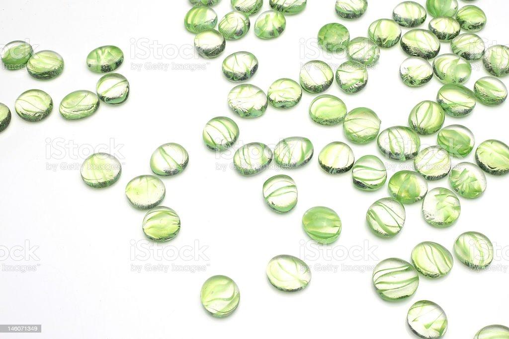 green pebbles royalty-free stock photo