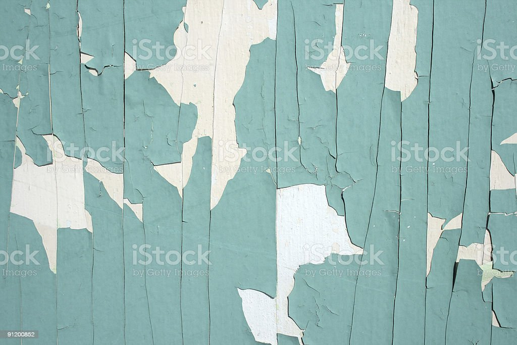 Green peeling paint background royalty-free stock photo