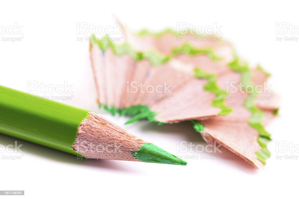 green pencil royalty-free stock photo