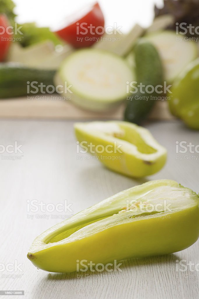 green pepper and other vegetables royalty-free stock photo