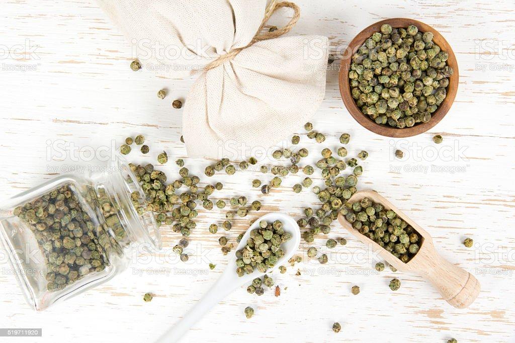 Green Pepper Heaps stock photo