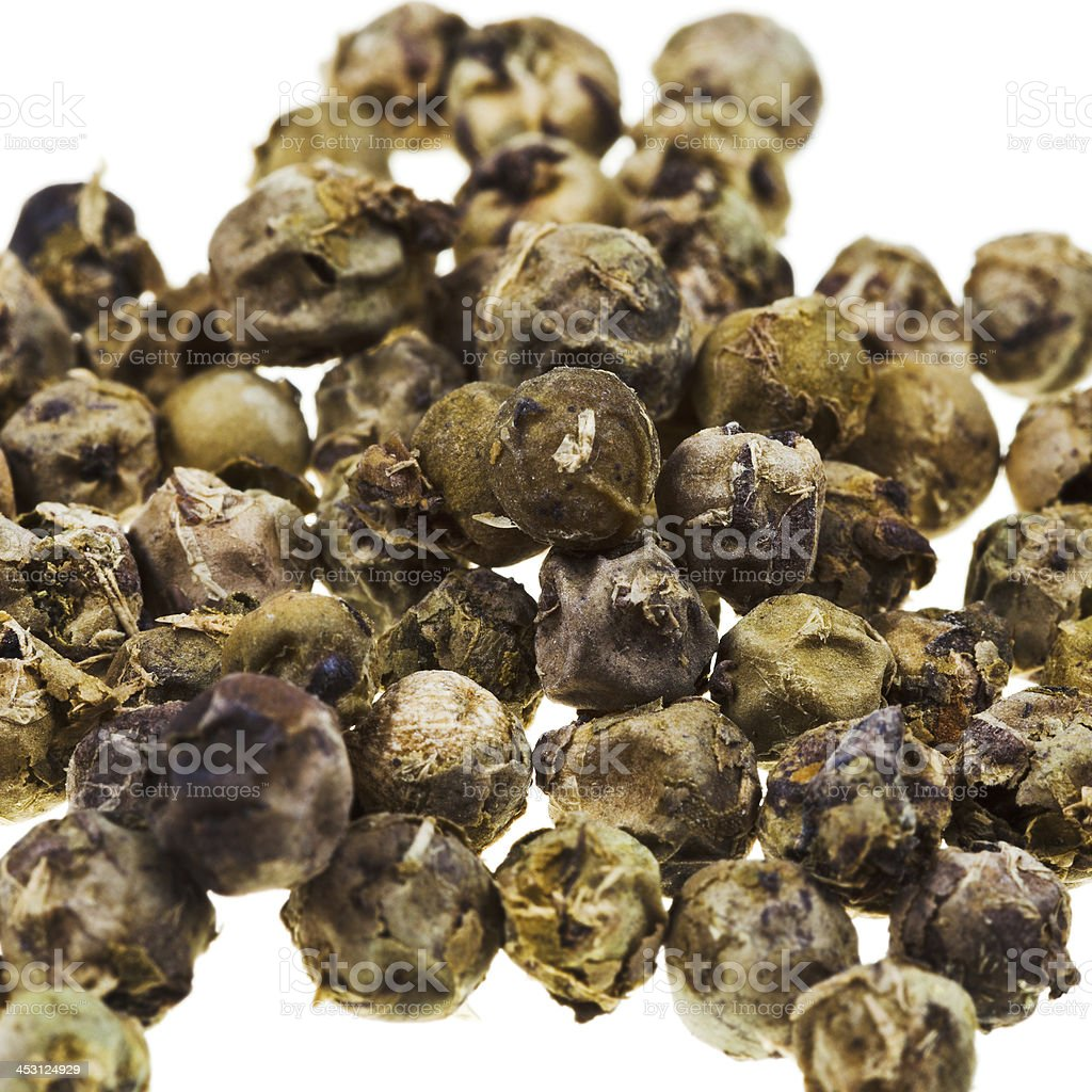 green pepper peppercorns close up royalty-free stock photo