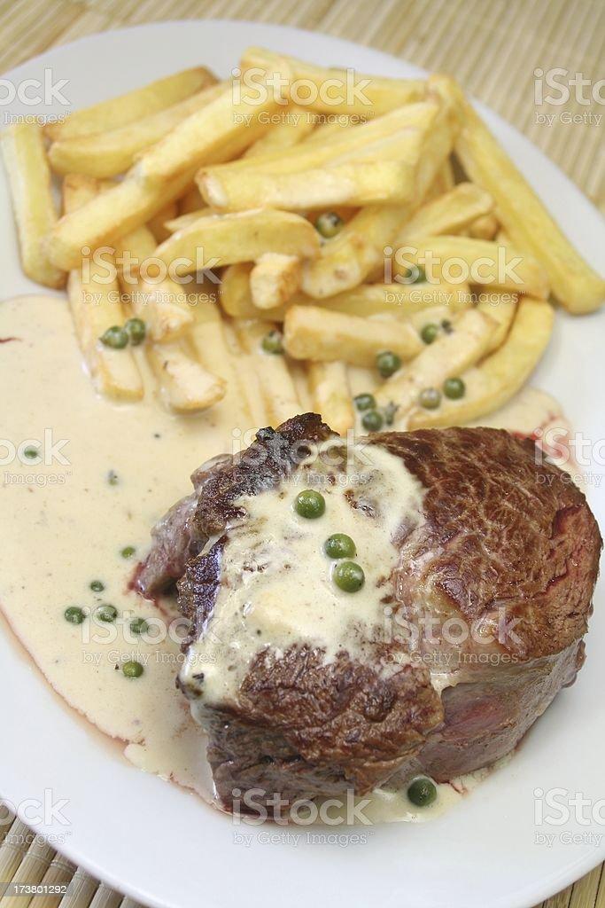 Green Pepper Steak stock photo