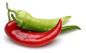 green pepper with red pepper