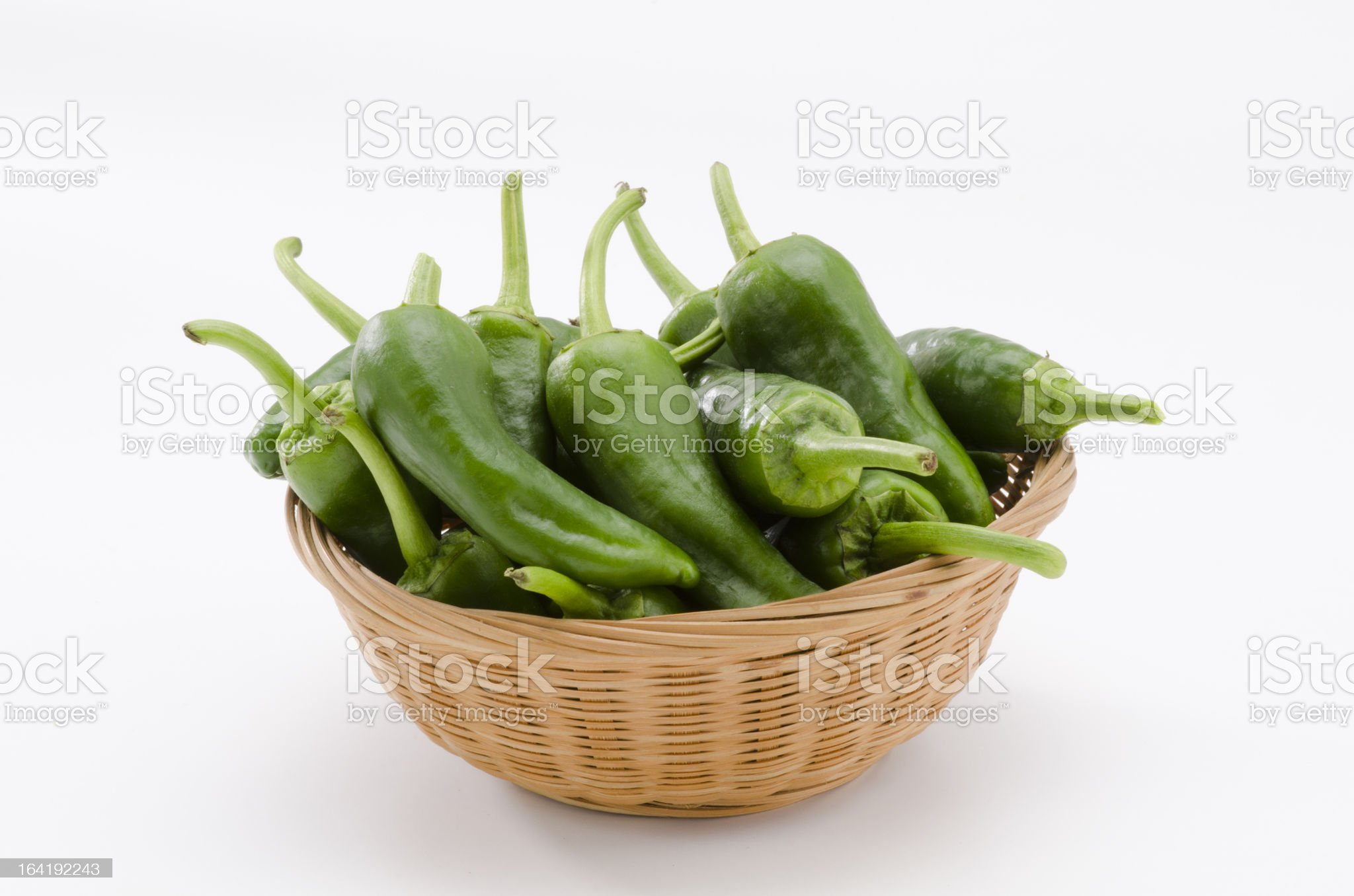 Green peppers. Pimientos del Padron. royalty-free stock photo