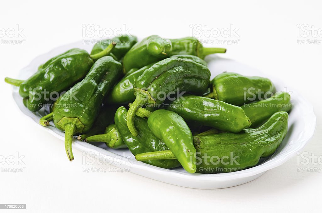 Green peppers royalty-free stock photo