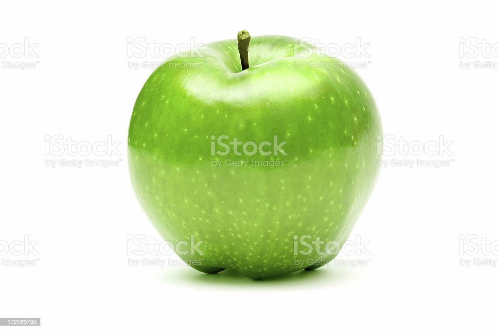 green perfect apple royalty-free stock photo