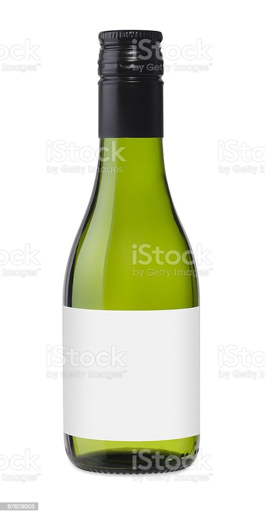 Green Piccolo Glass Bottle stock photo